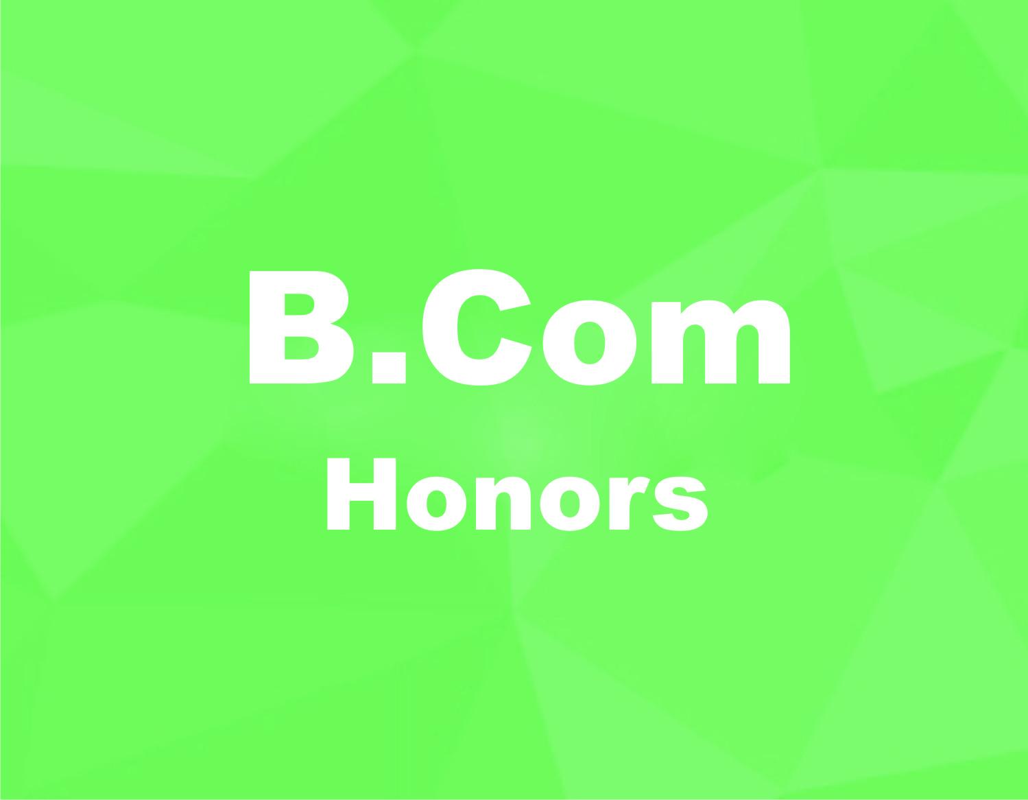 Bachelor of Commerce in Honours