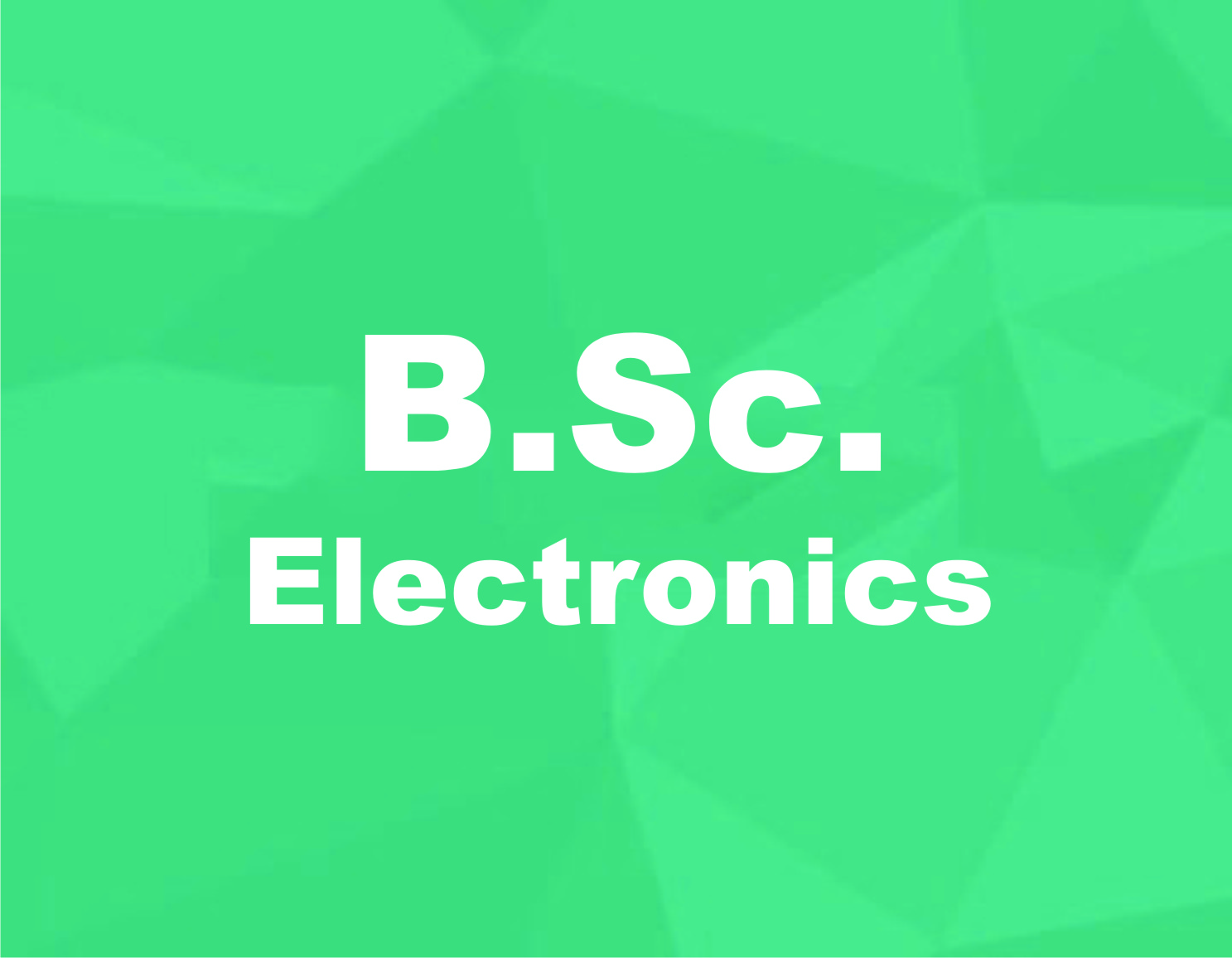 Bachelor of Science in Electronics